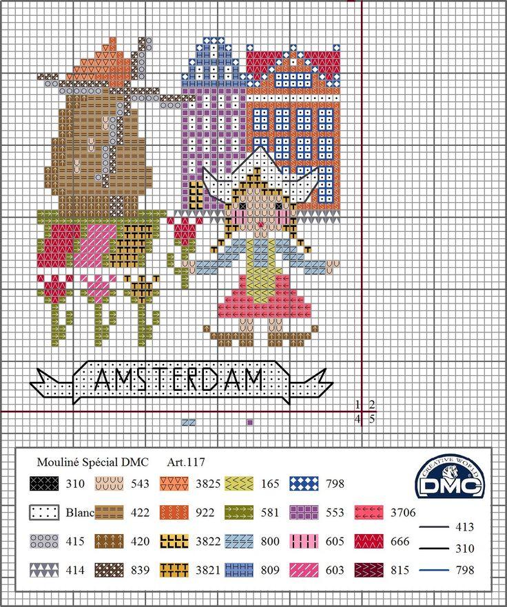 DMC Spain www.acasadajoaninha.blogspot.pt 1- Amsterdam