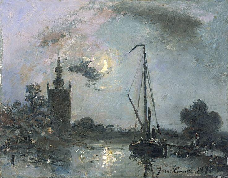 Johan Barthold Jongkind - Overschie bij maneschijn, 1871. (Rijksmuseum)
