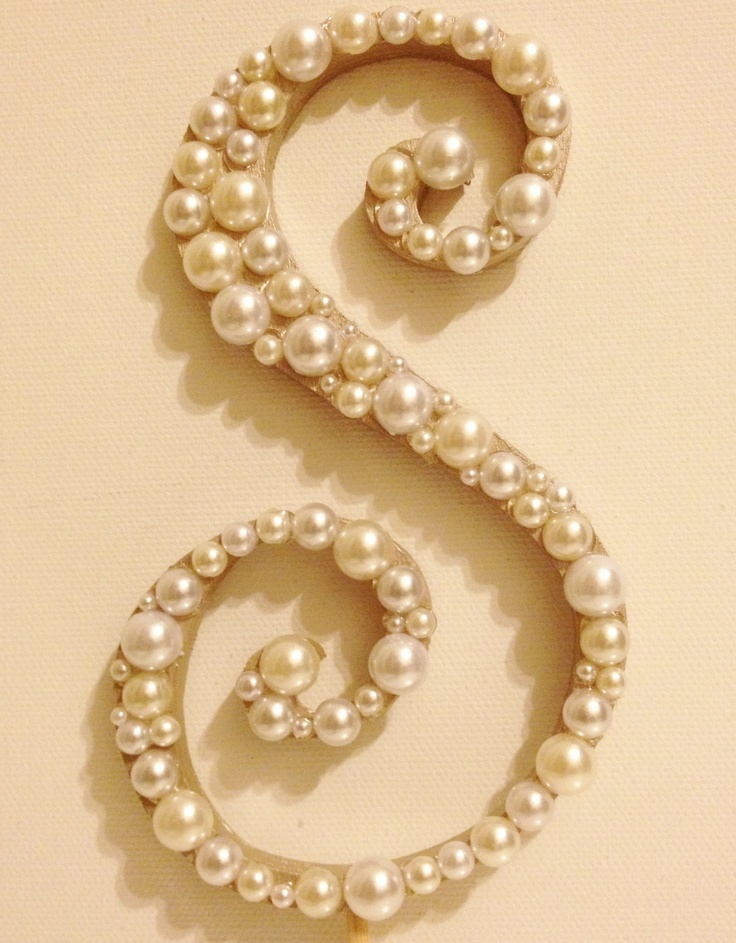 Curly Pearl Monogram Cake Topper (Font 2) High Quality ...