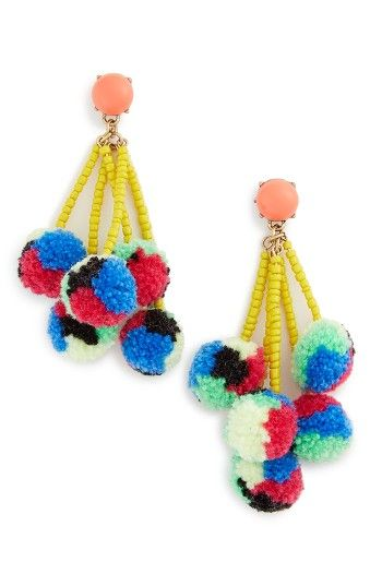 Free shipping and returns on BaubleBar Caicos Pompom Drop Earrings at Nordstrom.com. Pompoms and seed beads are a perfect combo on fun drop earrings that will get you into a summery state of mind.