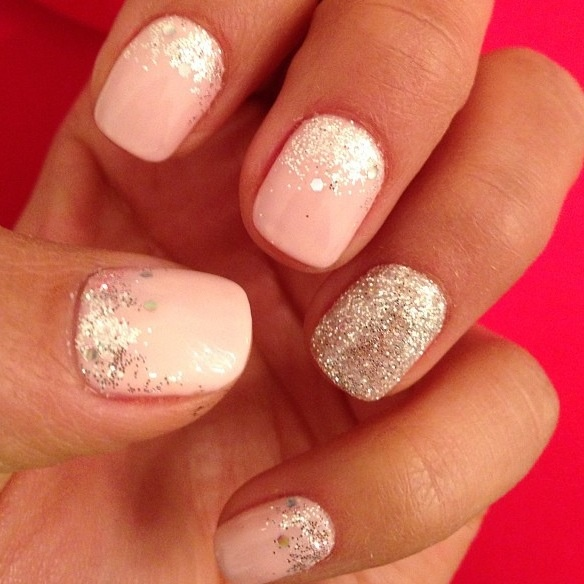 Pink And Blue Glitter Nail Polish: Glitter Nails, Pretty Little And Polish On Pinterest