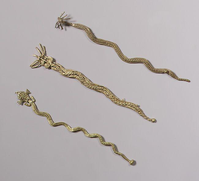 Three Serpents (Tunjos) [Muisca] (1979.206.740,1992.92) | Heilbrunn Timeline of Art History | The Metropolitan Museum of Art
