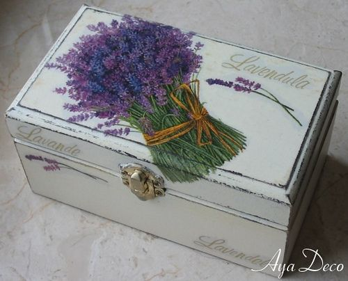 Decoupage Box - lavender | Flickr: Intercambio de fotos