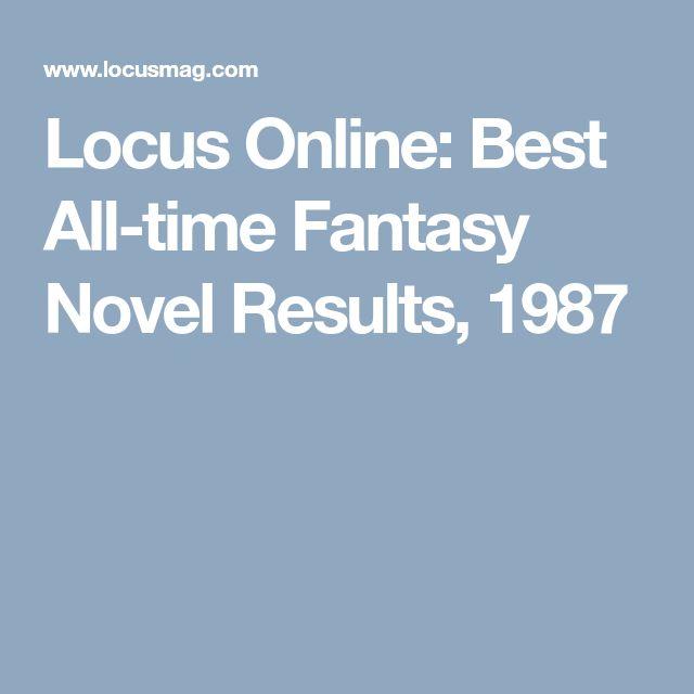 Locus Online: Best All-time Fantasy Novel Results, 1987