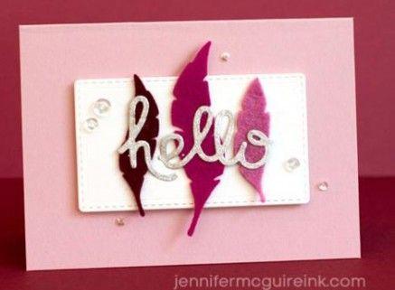 Pochoir de Coupe - Plumes Feathers #2 Paper Smooches
