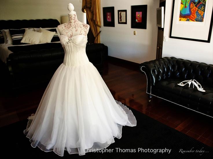Wedding dress, Brisbane Wedding Photographer, Christopher Thomas Photography