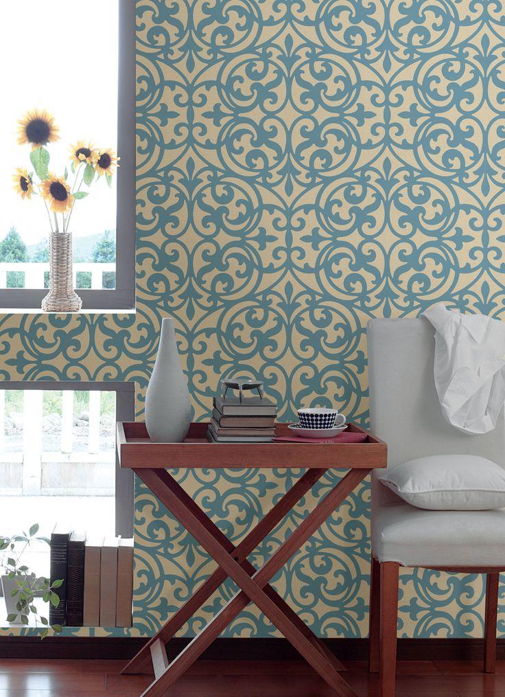 Best 25 wallpaper feature walls ideas on pinterest - Feature wall wallpaper living room ...