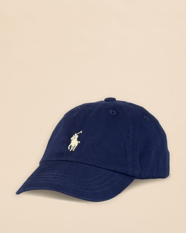 A Gift for Daddy's Little Caddy... A preppy baseball cap in signature cotton twill is finished with Ralph Lauren's iconic heritage embroidery. Go for it! Free shipping through 12/22/15.