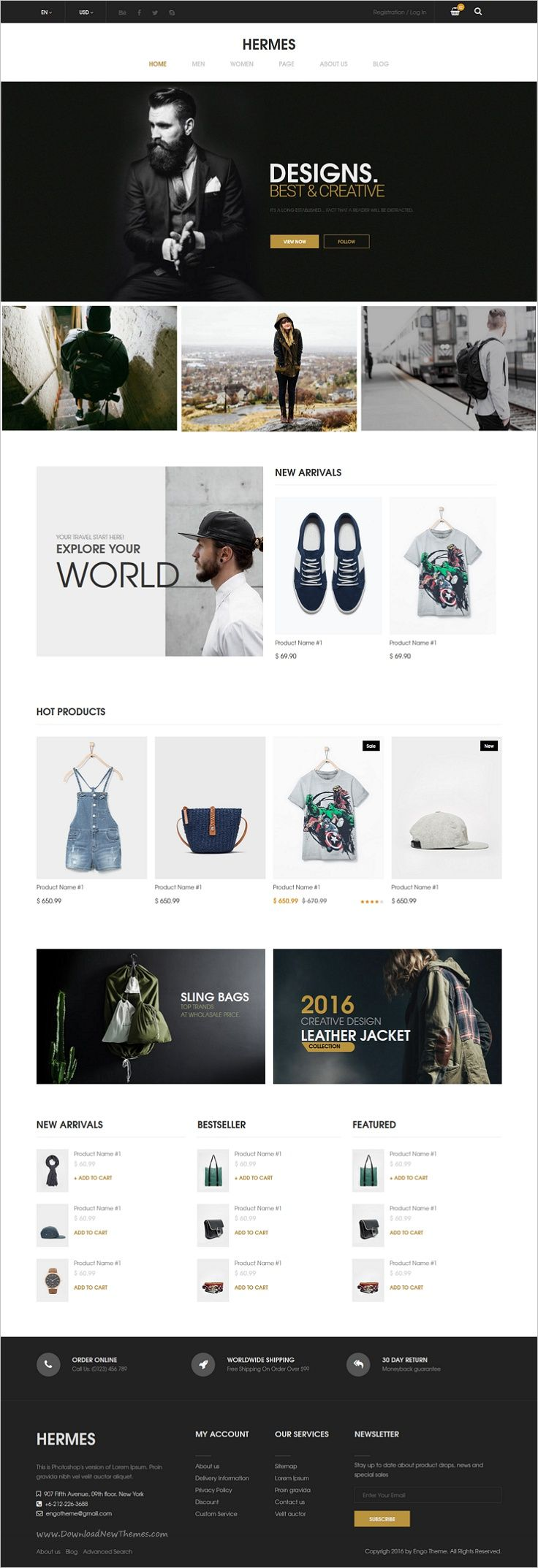 Hearmes is a modern and elegant design #Bootstrap #template for multipurpose #eCommerce website with 7 stunning homepage layouts download now➯ https://themeforest.net/item/hermes-multi-store-responsive-html-template/17108951?ref=Datasata