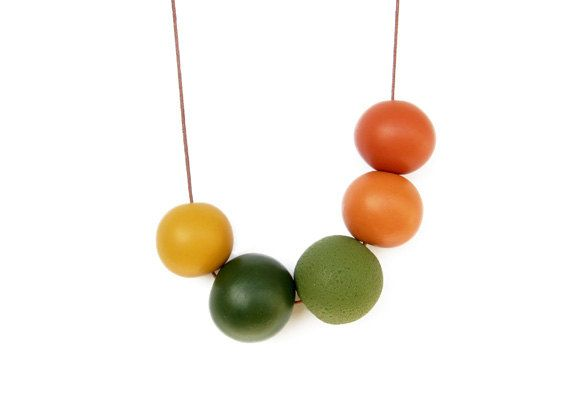 Handmade round beads Necklace by JullMade on Etsy, $32.00