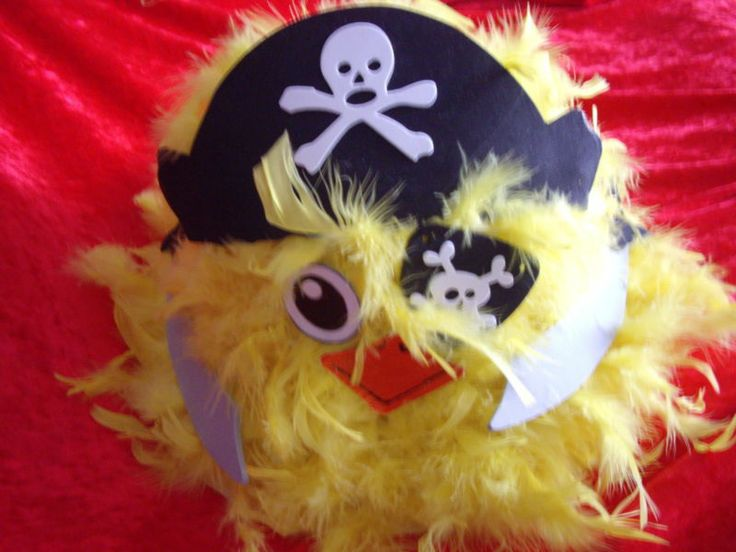 Boys Handmade Easter Bonnet Hat Pirate Chick Eggs Cutlasses Swashbuckler | eBay