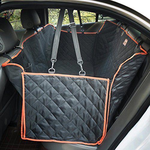 lanktoo Hundedecke Auto, Nonslip Wasserdicht Weich Großer Back Seat Pet Hängematte für Autos, Lkws, SUV mit Seitenklappen