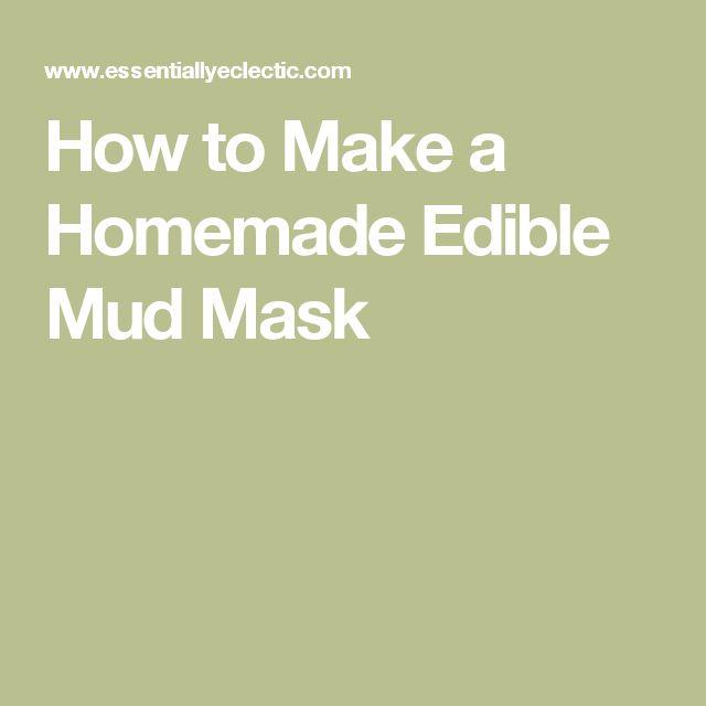 Homemade edible facial masks