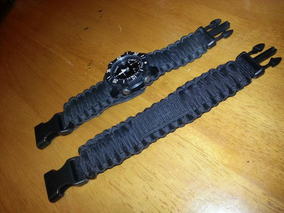SURVCO Tactical Replacement Watch Band Survival Emergency Disaster First Aid Kit Military Molle Zombie Apocalypse 550 Para Cord Bracelet