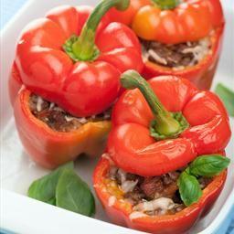 Roasted Bell Peppers Stuffed with Quinoa #BellPepper #Quinoa #Vegetarian