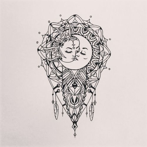 sun and moon mandala drawing tumblr - Google Search