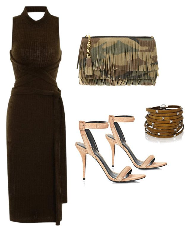 """OLIVE STYLES"" by alexannaloro on Polyvore featuring Lavish Alice, Yves Saint Laurent, Alexander Wang and Sif Jakobs Jewellery"