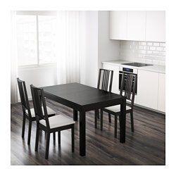 "BJURSTA Extendable table, brown-black - 55 1/8/70 7/8/86 5/8x33 1/8 "" - IKEA"