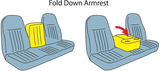 Chevy Vehicle Console Configuration GM Fold Down Arm Rest