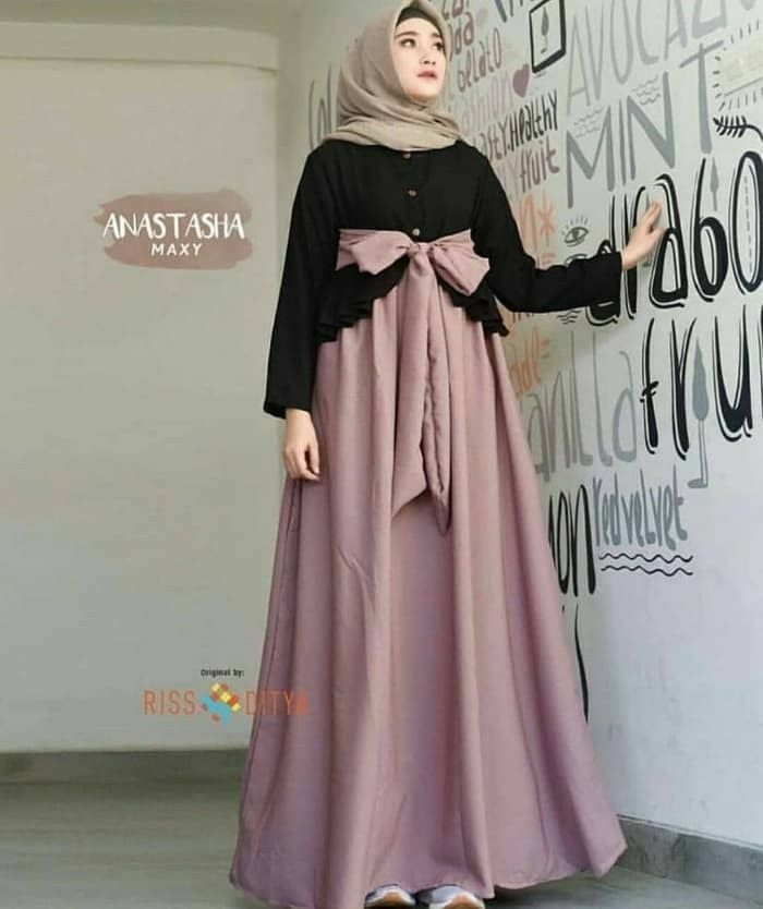 Jb Gamis Long Dress Maxy Anastasya Ballotelli Pr001 Harga 93 000 Berat Barang 500gr Bahan Balote Model Pakaian Hijab Pakaian Pesta Model Pakaian Muslim