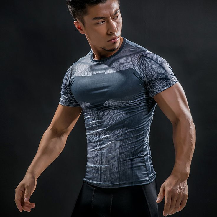 The unique Rashguard Short Sleeve Tee Shirt Crossfit Batman DC Comics  -  This t-shirt looks like natural superhero gear! Fits perfectlyrash guard tee shirtis ideal for sport and daily usage. This shirt containslycra, which allows material stretch to the several sizes and comes back to normal size. Perfectly breathtissue, the color doesn't fade over time.