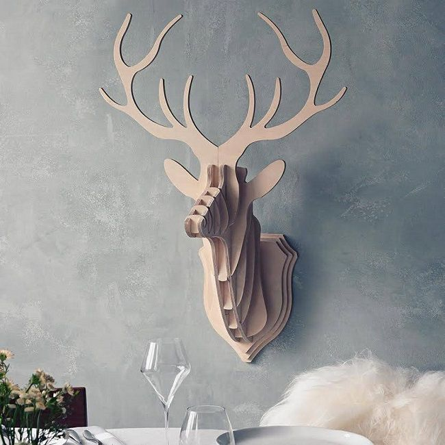 projects ideas dear head. rustic christmas decorations decorative stag head plywood 199 best PLYWOOD TROPHY images on Pinterest  Plywood Sheathing