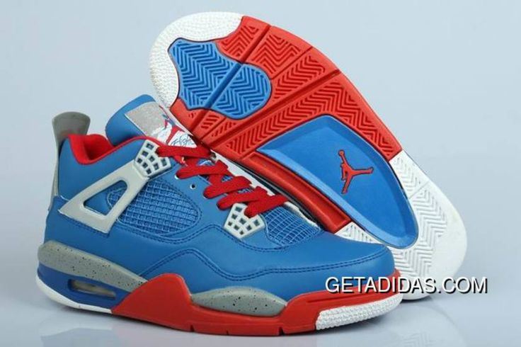 https://www.getadidas.com/red-blue-grey-white-air-jordan-4-topdeals.html RED BLUE GREY WHITE AIR JORDAN 4 TOPDEALS Only $78.57 , Free Shipping!