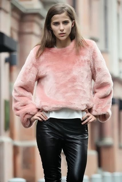 Minimal + Classic: leather contrasted with soft colour  texture, pure cool