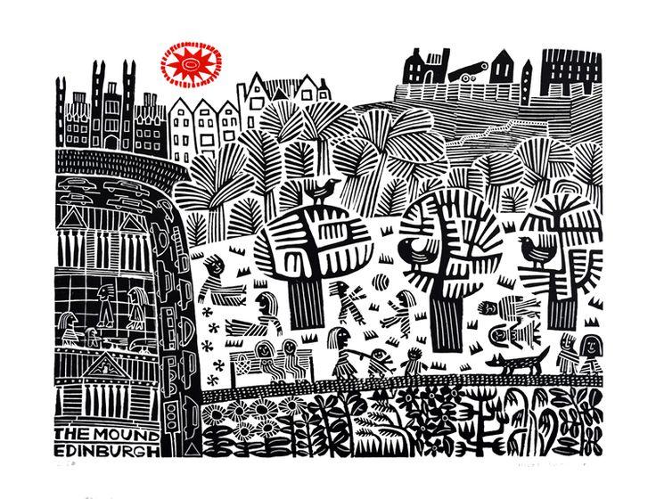 The Mound - Edinburgh by Hilke MacIntyre.