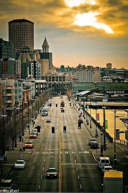 Alaskan Way and the Seattle Waterfront