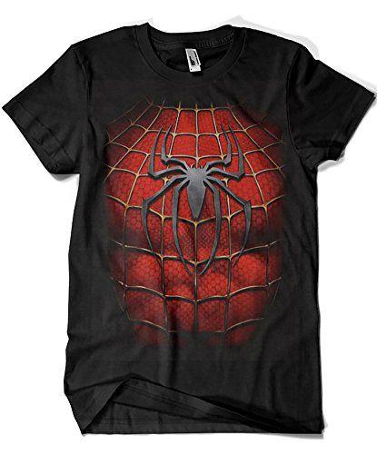 1513-Camiseta Spiderman Chest #camiseta #realidadaumentada #ideas #regalo
