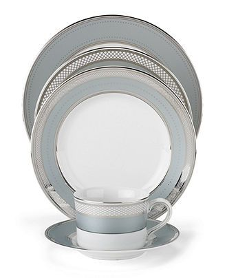 "Lauren Ralph Lauren ""Silk Ribbon Slate"" 5-Piece Place Setting - Fine China - Dining & Entertaining - Macy's Bridal and Wedding Registry"