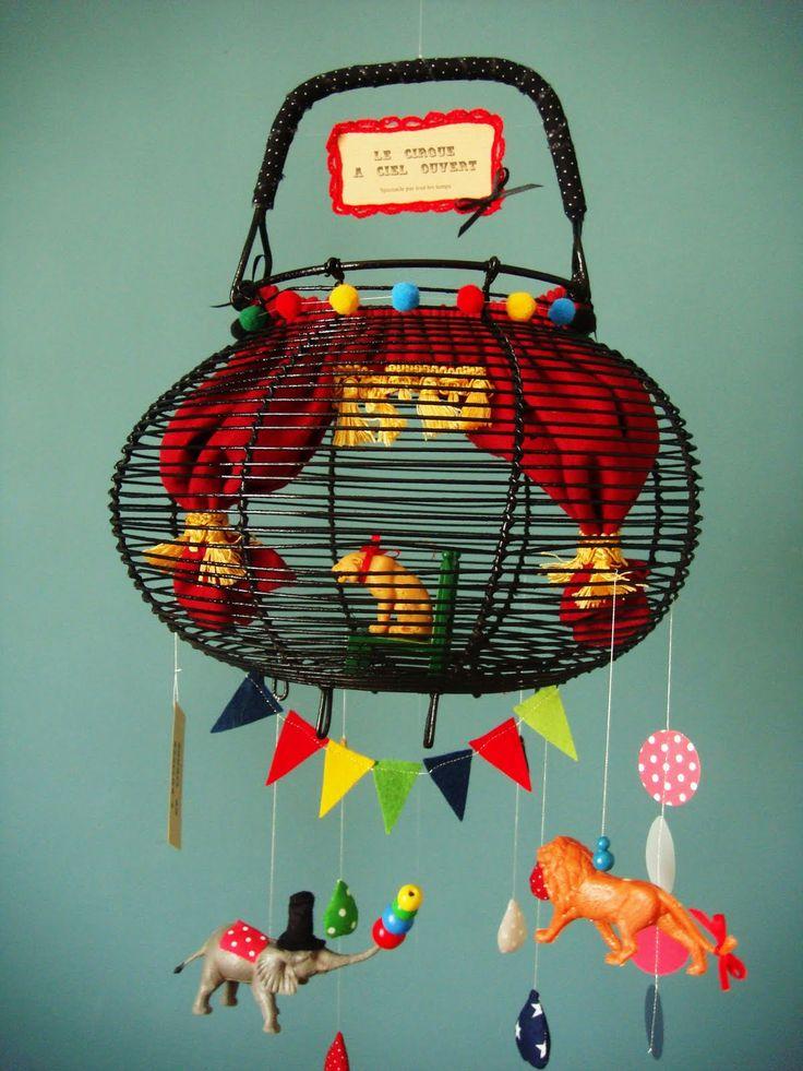 d co chambre enfant cirque dans panier salade deco pinterest atelier chambres b b et. Black Bedroom Furniture Sets. Home Design Ideas