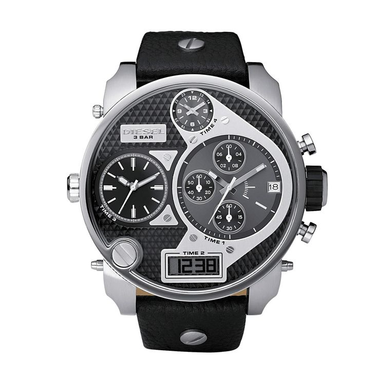 Dude. It takes a real scholar to read this watch. Stay on time for class with Diesel's styles.
