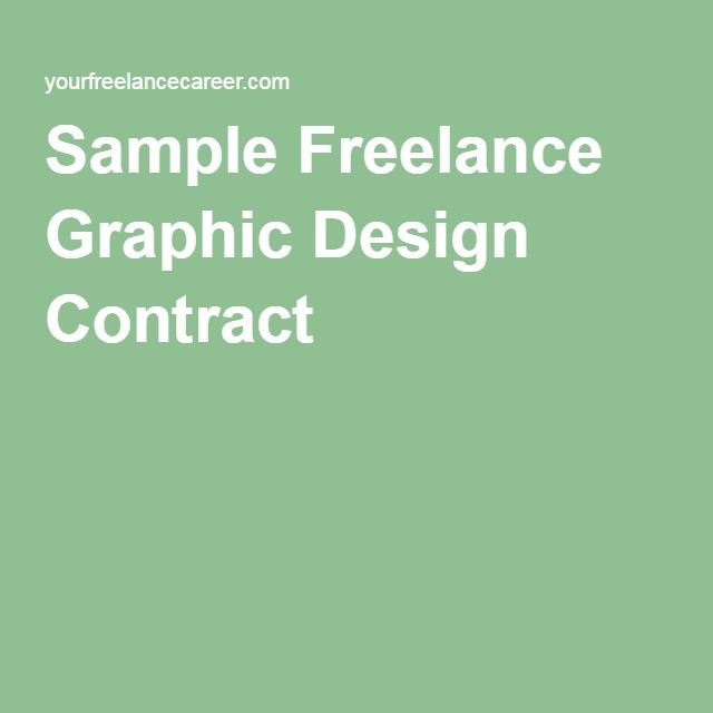 Sample Freelance Graphic Design Contract