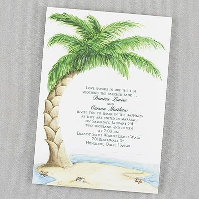 34 Best Images About Beach Wedding Invitations On Pinterest