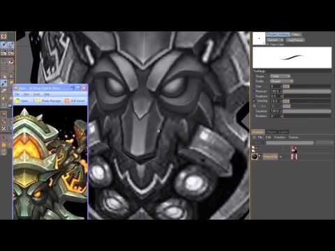 HAND PAINTING TEXTURE - GAME WEPAON - HAND PAINTED - GAME ART - YouTube