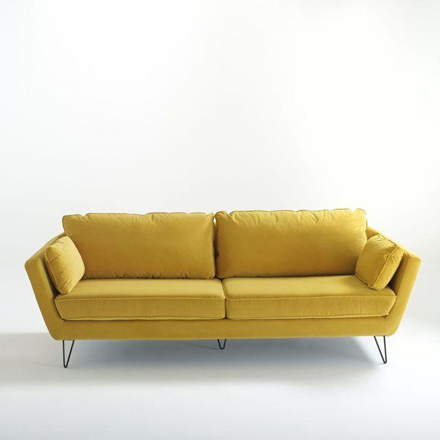 Canap fauteuil velours topim lieux et fils - La redoute fauteuils ...