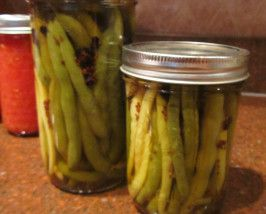 Hot Pickled Green Beans: