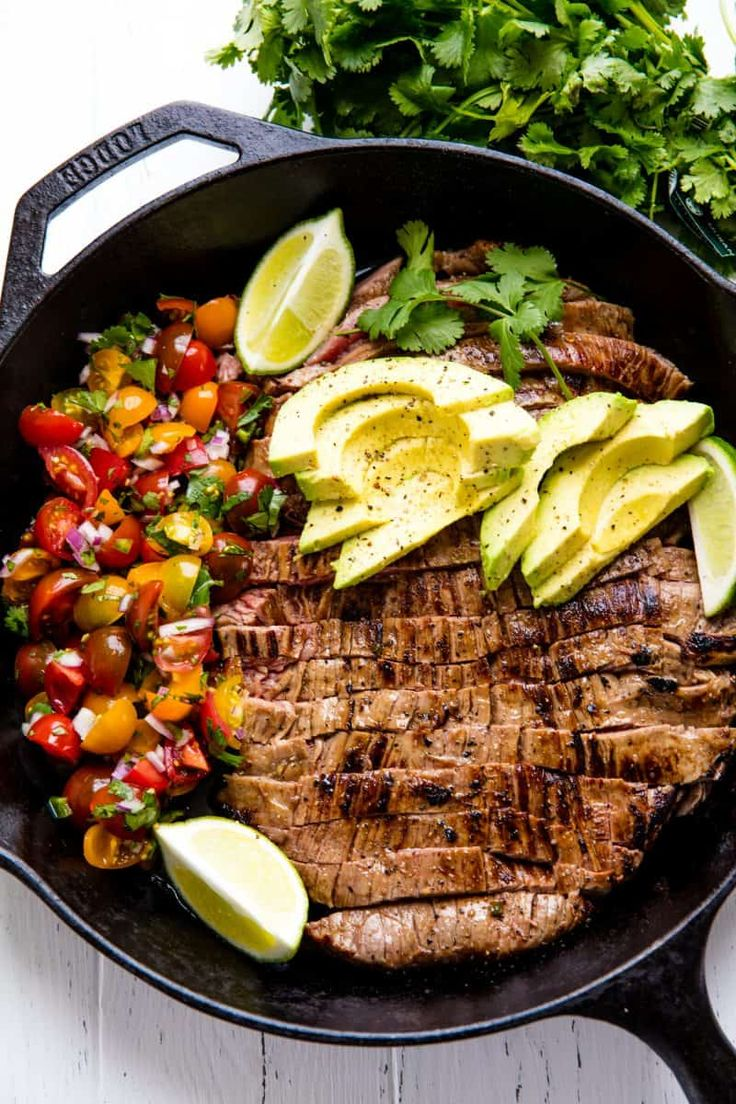 how to cook a marinated steak in cast iron skillet