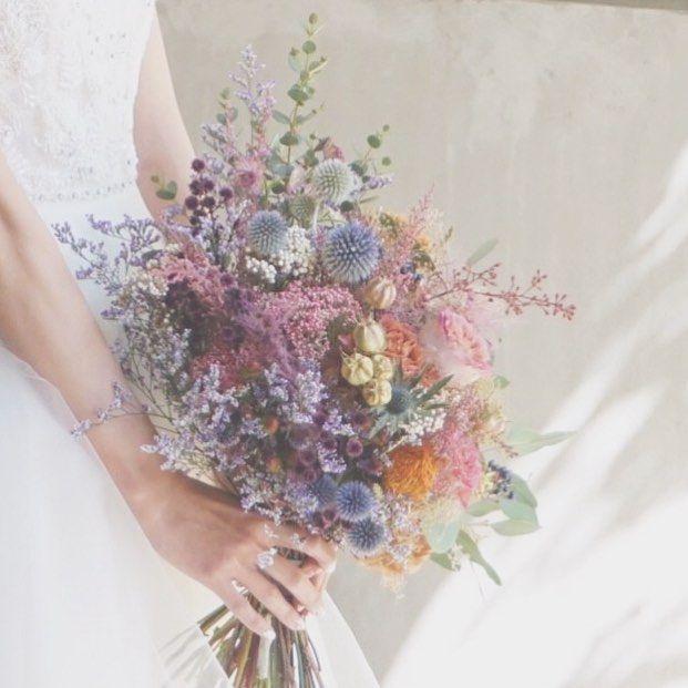 """いいね!883件、コメント1件 ― wedding designerさん(@takigawa.tsg)のInstagramアカウント: 「*everlasting...* ウェディングブーケ。 made by @itaya.tsg 永遠にこの幸せが続きますように。 そんな想いを込めて、 色褪せないドライフラワーや""""永遠""""に…」"""