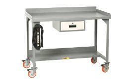 """60"""" W Welded Mobile Workbench w/ Drawer and End Stops - Car Guy Garage"""