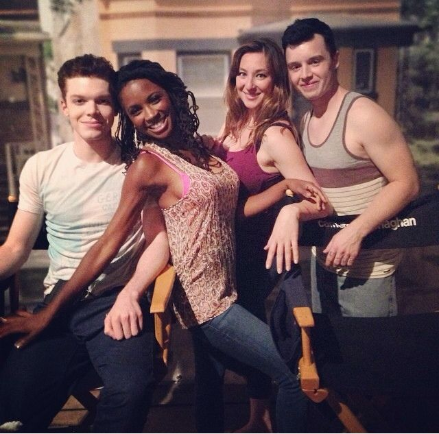 shamelesslygallavich:  @shanolahampton: Hung with my two movie star cast mates @noel_fisher & @cameronmonaghan with my GIRL @isidora_gor...