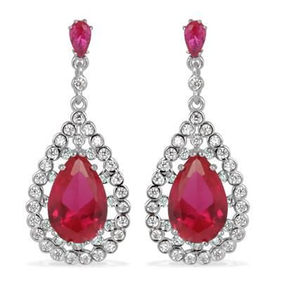 TJC Women Crystal Chandelier Earrings Silver Tone AxmnDyL3Dh