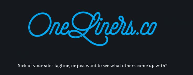 OneLiners.co is like 99designs for company taglines (except it's free)