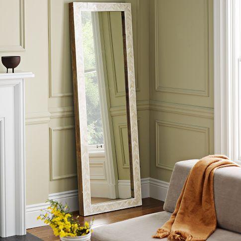 Parsons Floor Mirror - Bone Inlay | west elmWestelm, Bedrooms Mirrors, Floor Mirrors, Wall Mirrors, Bones Inlay, Parsons Floors, Floors Mirrors, Decor Mirrors, West Elm