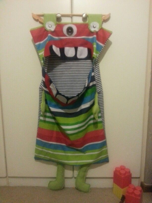 The alien laundry bag for the kids! They love this and now, no more clothes laying around