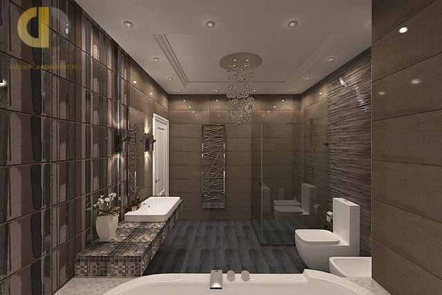 Дизайн ванной в стиле арт-деко.