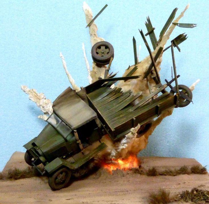 Explosion | #Scale_model 1/35 #diorama