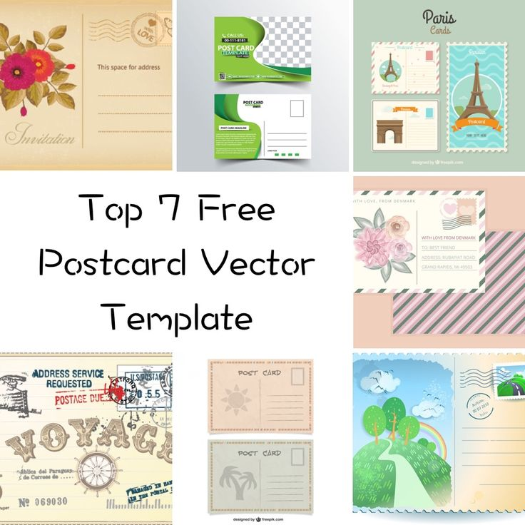 Below is my list of Top 7 Postcard Vector Template For Free.